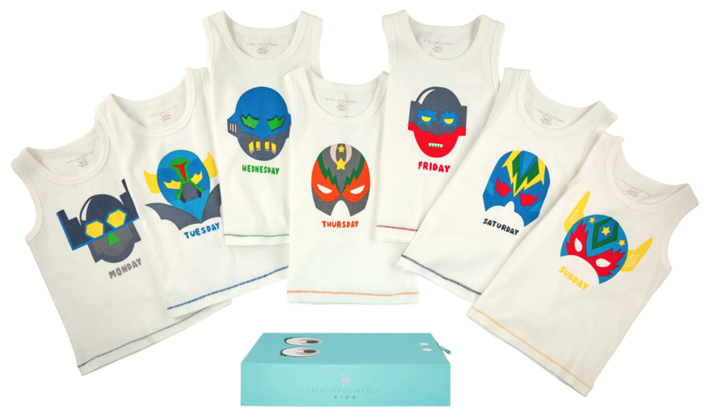 Stella McCartney Boys 7-Days Tank-Tops Gift Set Boys Underwear & Socks Stella McCartney Kids [Petit_New_York]