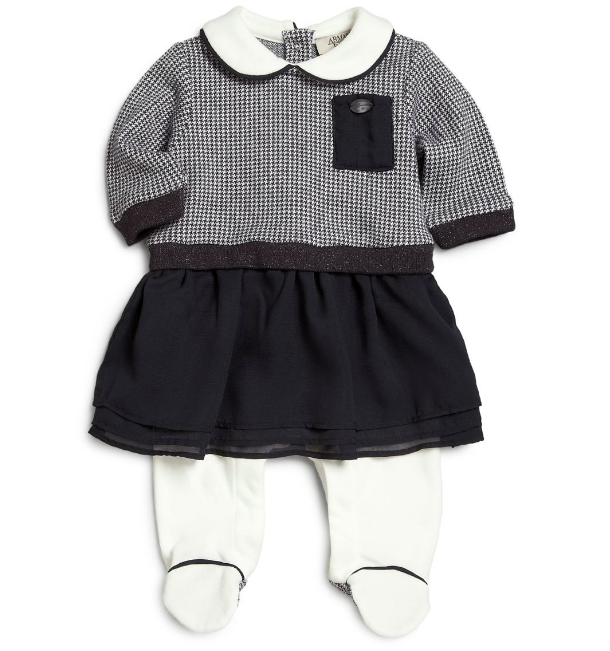 Armani Baby Navy Dress-Onesie Baby Rompers & Onesies Armani Junior [Petit_New_York]
