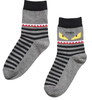 Fendi Boys 'Monster' Socks Boys Underwear & Socks Fendi [Petit_New_York]