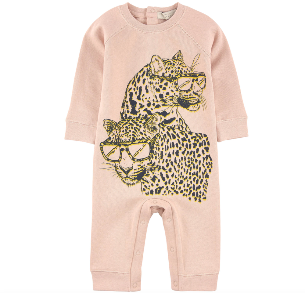 Stella McCartney Baby Girls Cheetah Onesie Baby Rompers & Onesies Stella McCartney Kids [Petit_New_York]