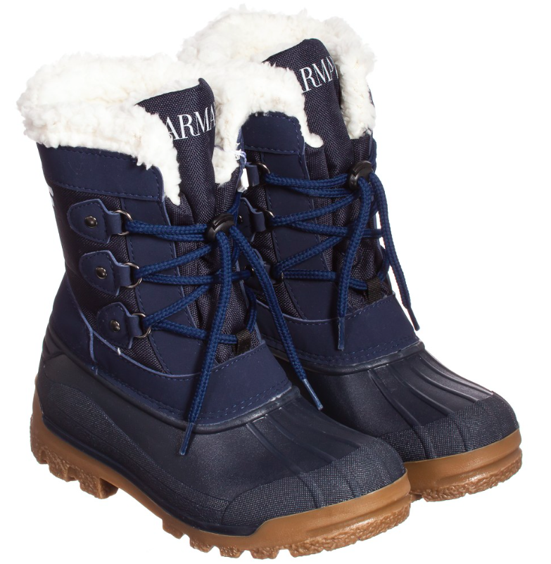 Armani Boys Snow Boots Boys Shoes Armani Junior [Petit_New_York]