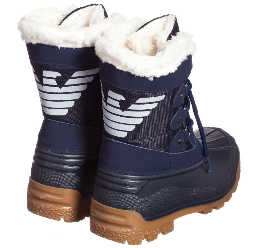 a2c3d4bf47e Armani Boys Snow Boots Boys Shoes Armani Junior  Petit New York