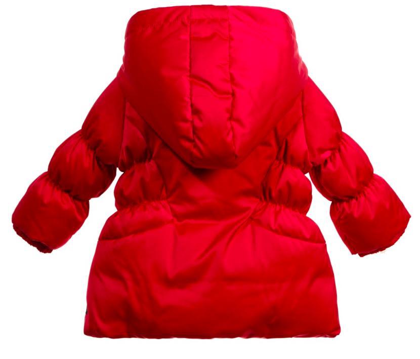 Armani Baby Girls Red Puffer Jacket Baby Jackets & Coats Armani Junior [Petit_New_York]