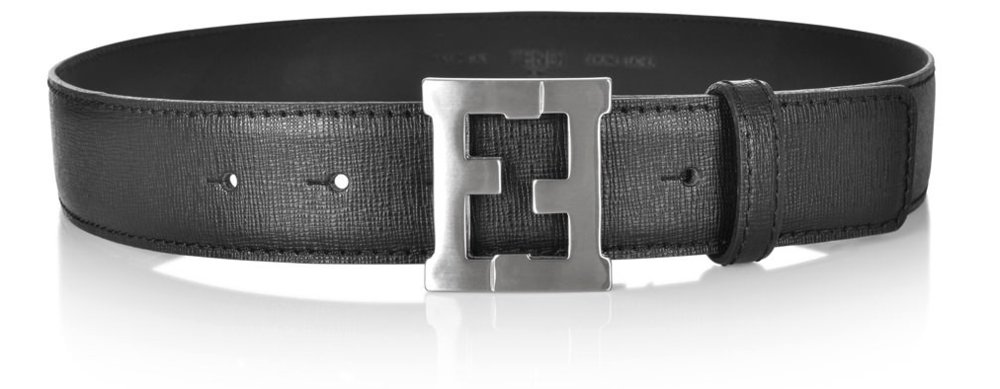 Fendi Boys Black Leather Belt Accessories Fendi [Petit_New_York]