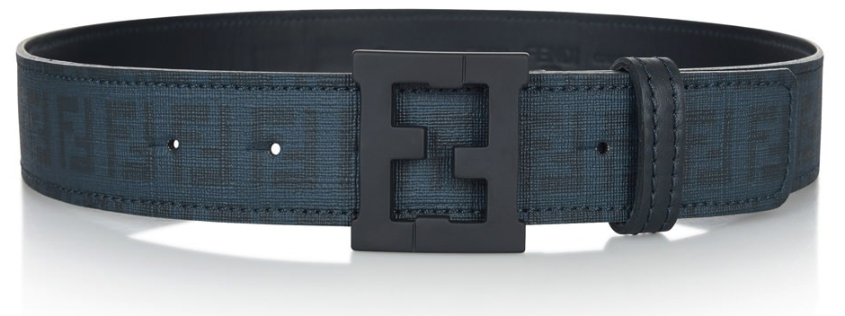 Fendi Boys Blue Leather Belt Accessories Fendi [Petit_New_York]