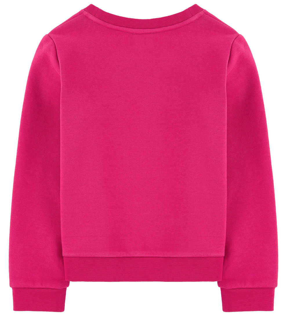 Karl Lagerfeld Girls Hot Pink Choupette Sweatshirt Girls Sweaters & Sweatshirts Karl Lagerfeld Kids [Petit_New_York]