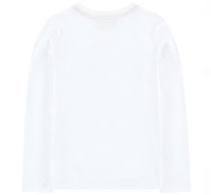 Fendi Girls White Mini-Me 'Monster' T-shirt Girls Tops Fendi [Petit_New_York]
