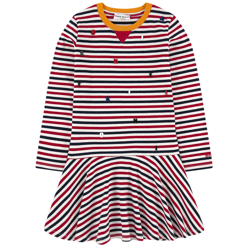 Girls Colorful Striped Dress