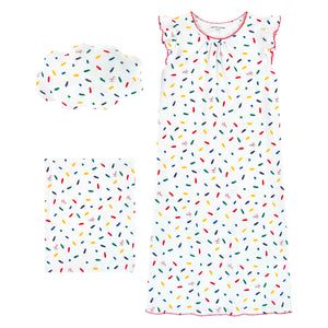 Girls Colorful Pajama with Pillow Set