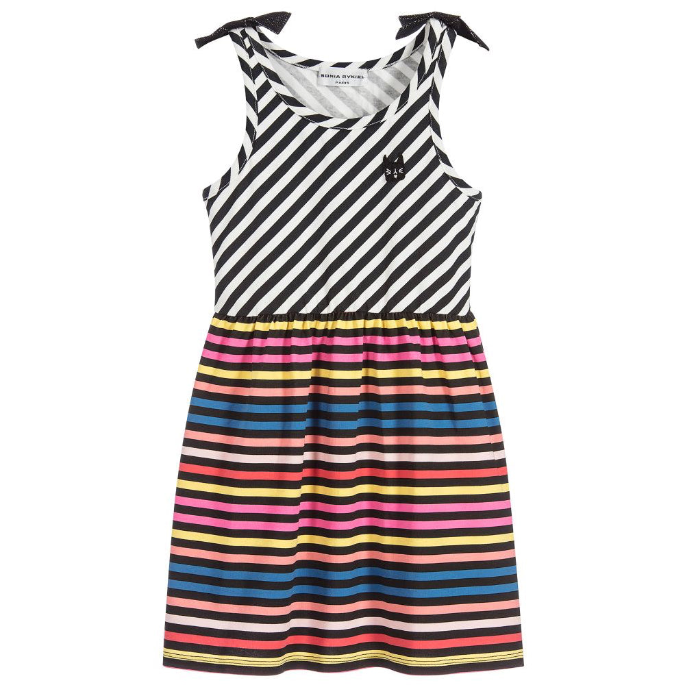 Girls Colorful Striped 'Akasa' Dress