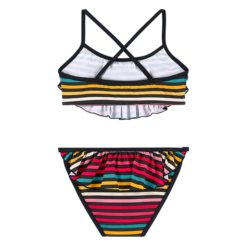 Girls Colorful Striped Bikini Set