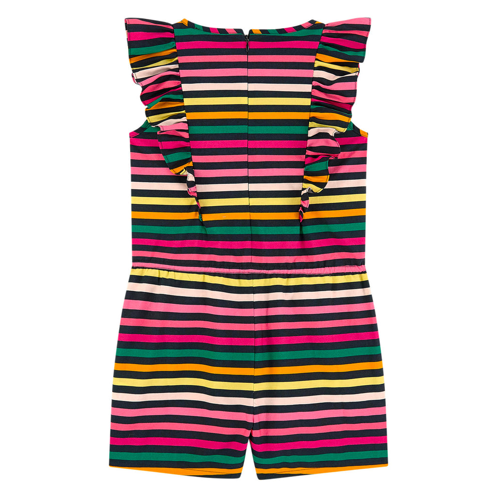 Girls Colorful Striped One-Piece Romper