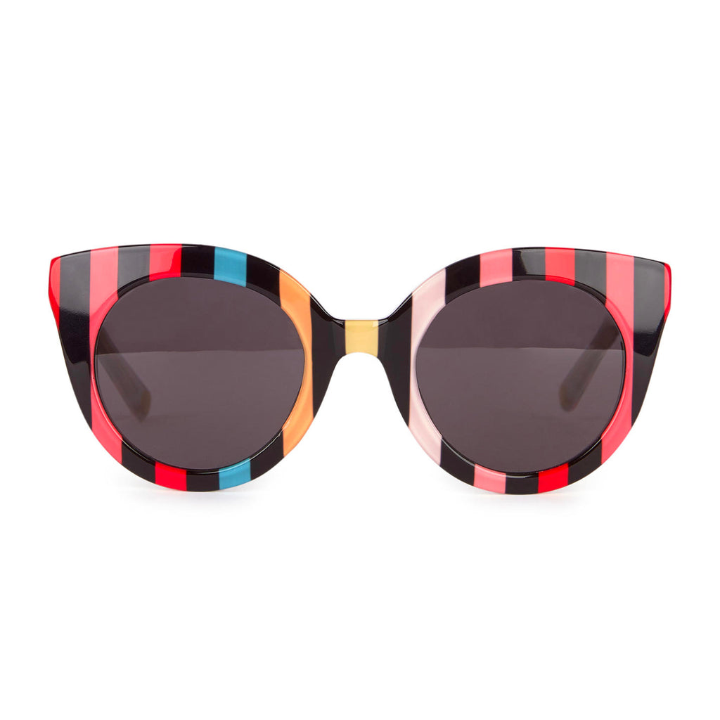 Girls Colorful Striped Sunglasses