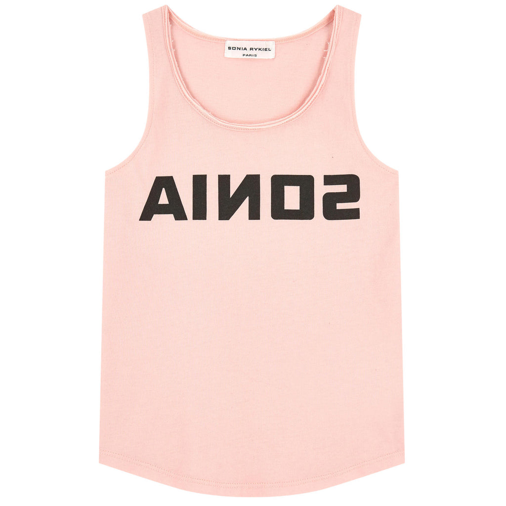 Girls Light Pink Logo Tank Top