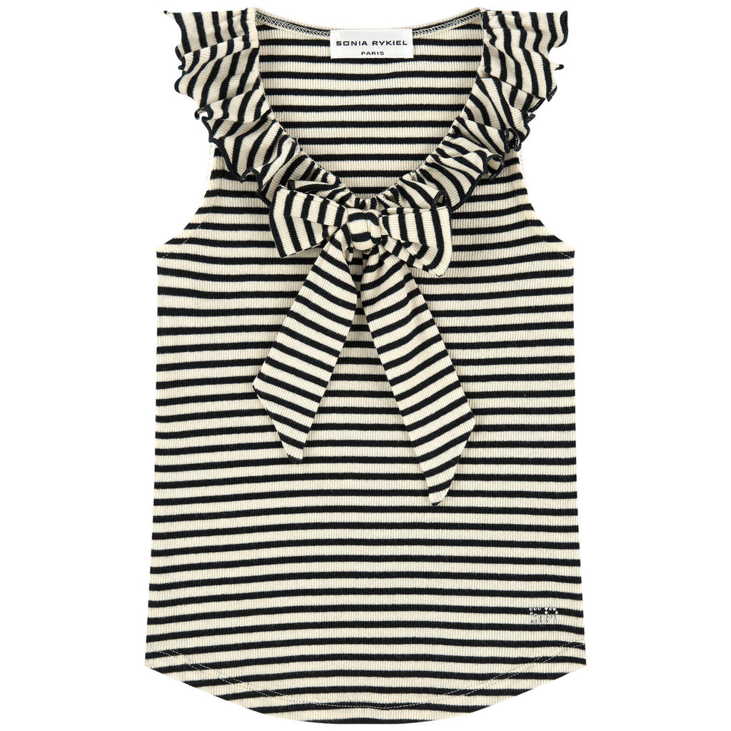 Girls Striped Fancy Tank Top