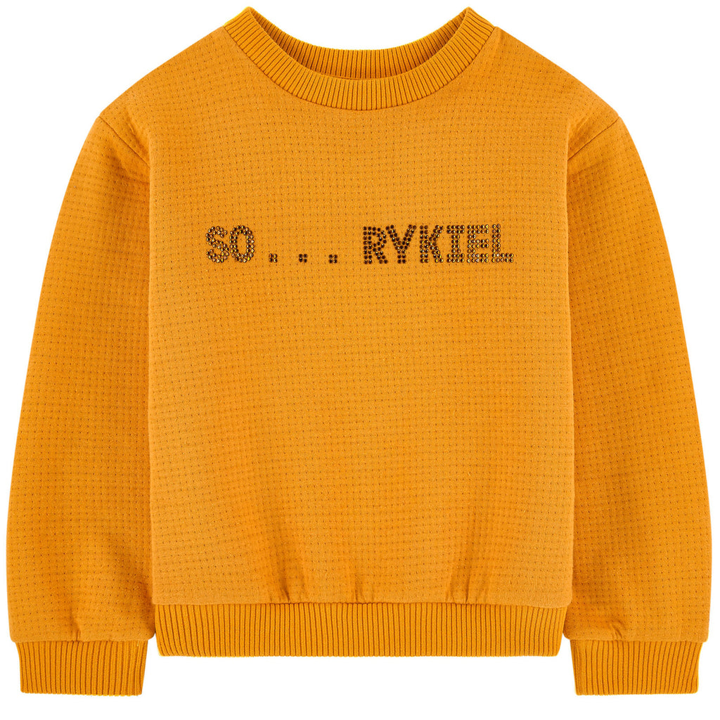 Girls Yellow Logo Sweatshirt
