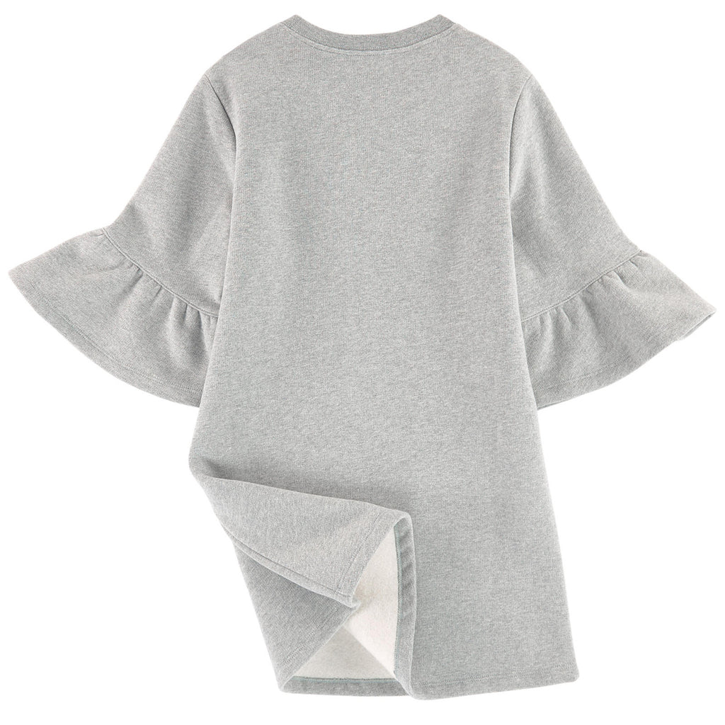 Girls Grey Logo Sweatshirt Dress