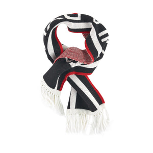 Sonia Rykiel Navy, Red and White Logo Scarf (unisex)