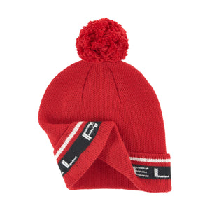 Red Logo Hat with PomPom