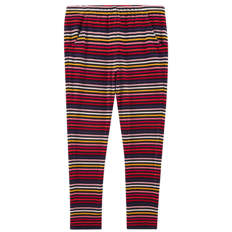 Sonia Rykiel Girls Colorful Striped Velvet Pants