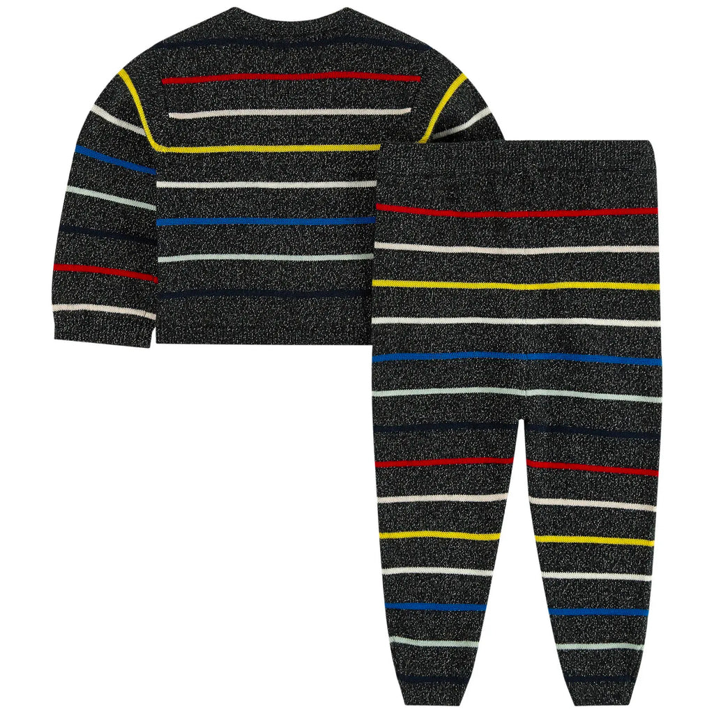 Baby Girls Colorful Striped Knitted Set
