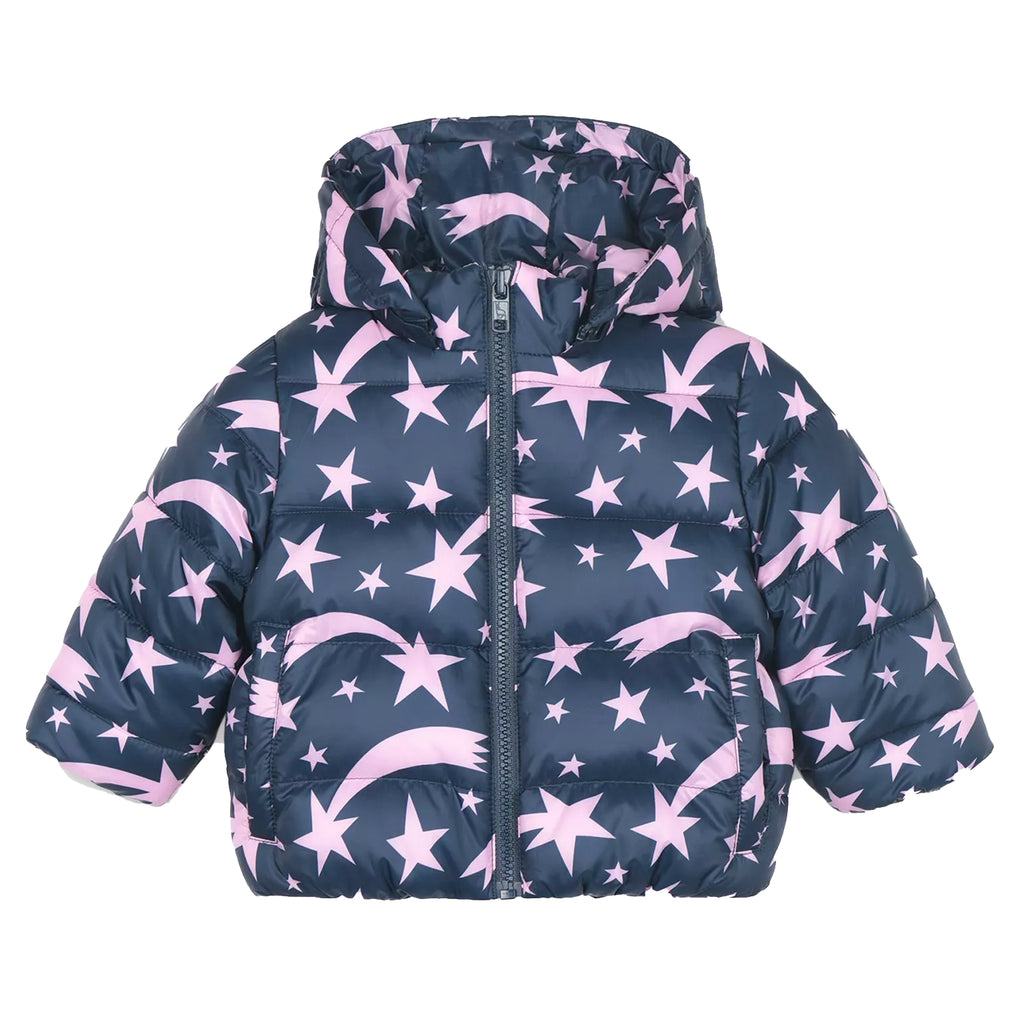 Baby Girls Blue with Pink Stars Jacket