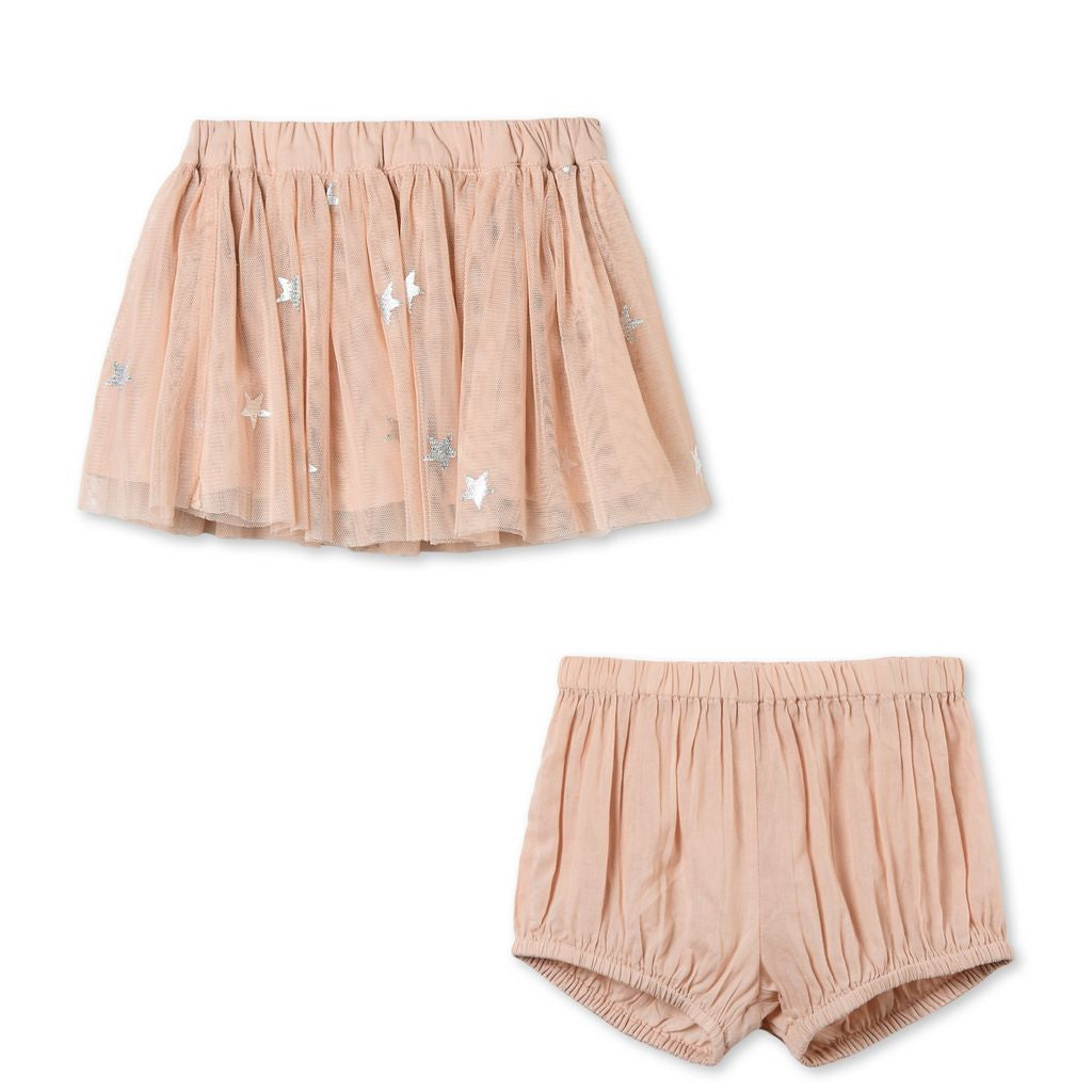 Stella McCartney Baby Pink Party Skirt with Bloomers Baby Bottoms Stella McCartney Kids [Petit_New_York]