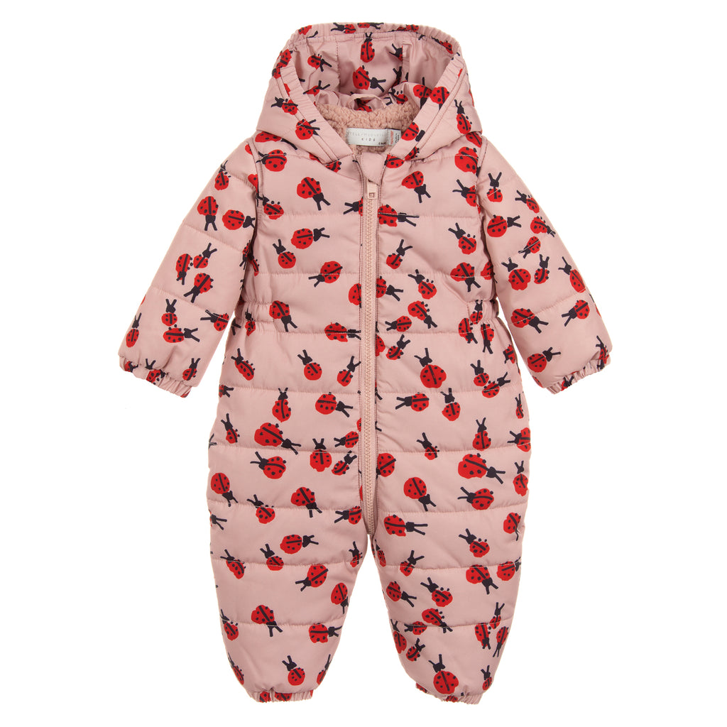 Stella McCartney Baby Girls Pink Ladybug Snowsuit