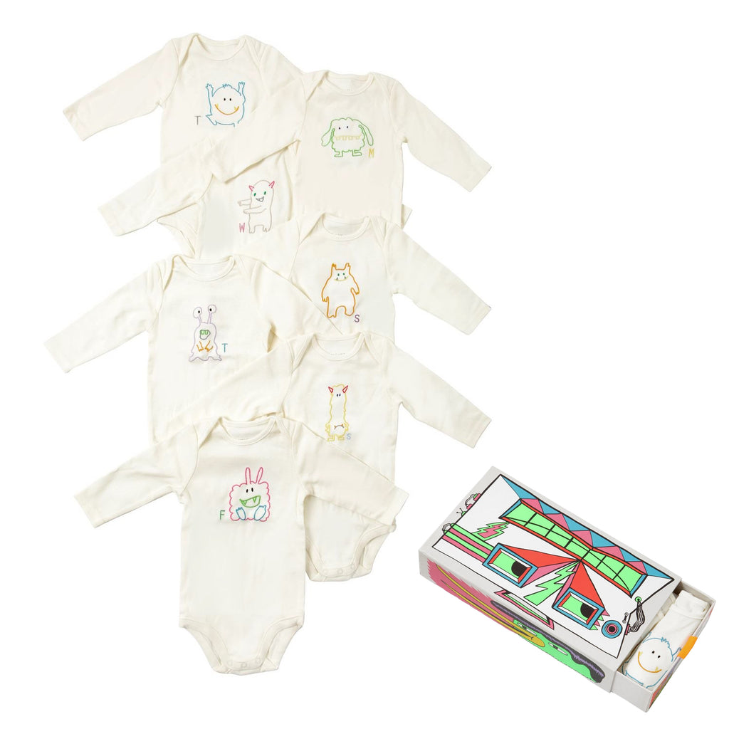 Baby Set of 7 Days Bodysuits (Gift Box)