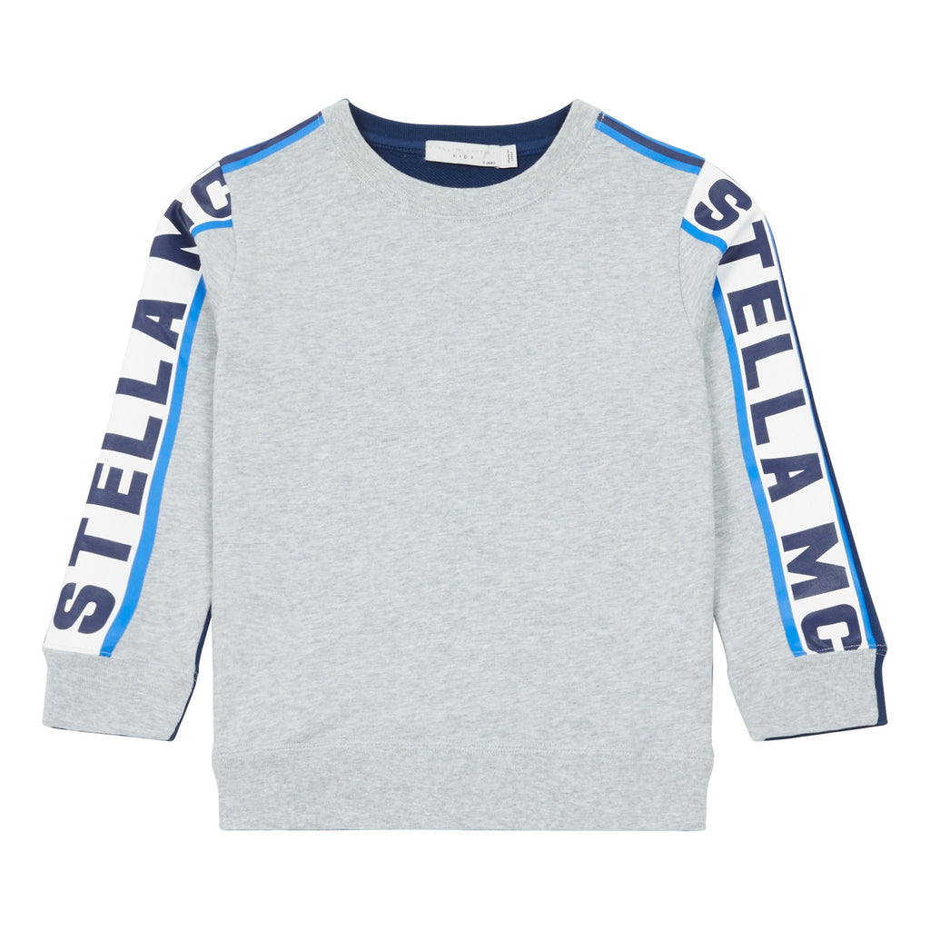 Boys Grey Sporty Logo Sweatshirt