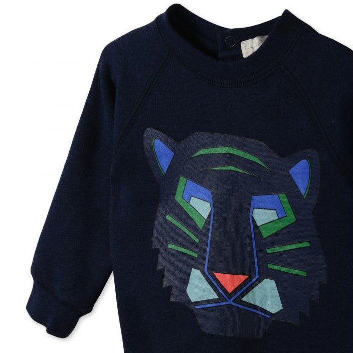 Baby Boys Navy Blue Tiger Sweatshirt