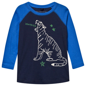 Boys Navy and Blue Tiger T-shirt