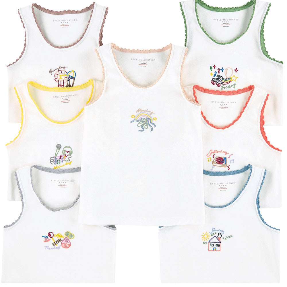 Stella McCartney Girls 7 Days Tank-Tops Gift Set Girls Underwear, Socks & Tights Stella McCartney Kids [Petit_New_York]