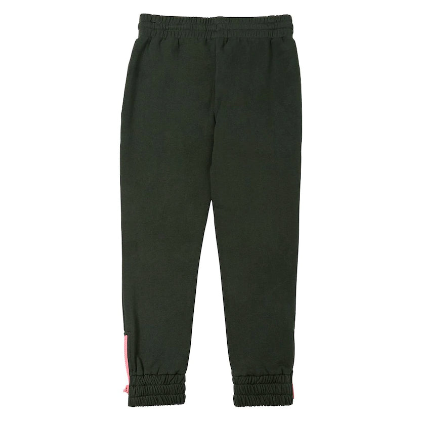 Girls Black with Pink Logo Sweatpants