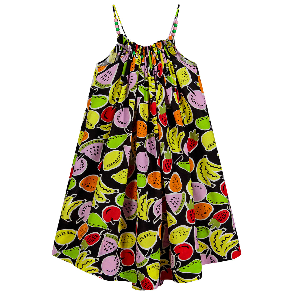 Girls Colorful Fruity Lightweight Dress