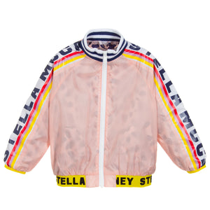Girls Colorful Pink Logo Jacket