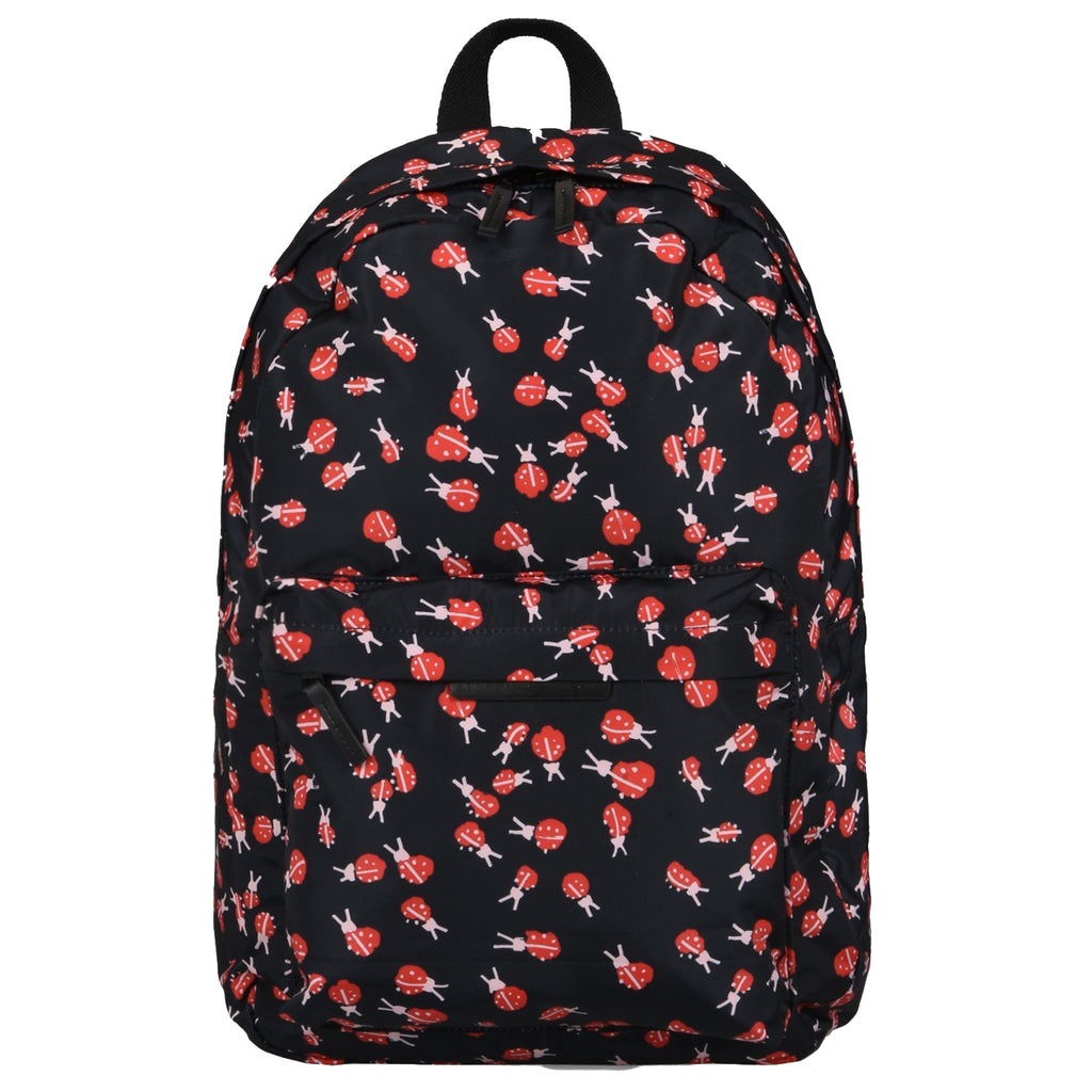 Girls Ladybugs Print Backpack