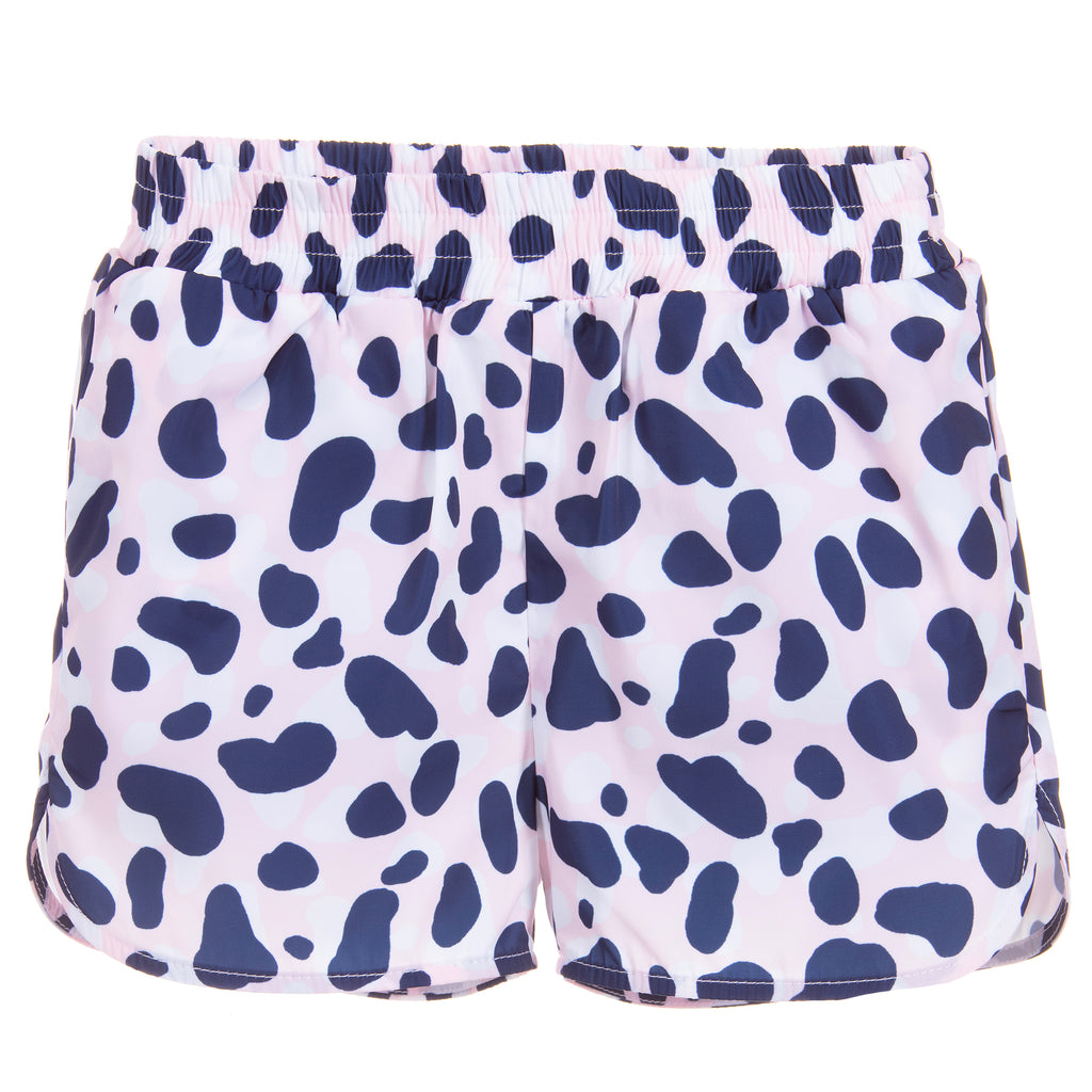 Girls Soft Pink & Blue Camo Shorts