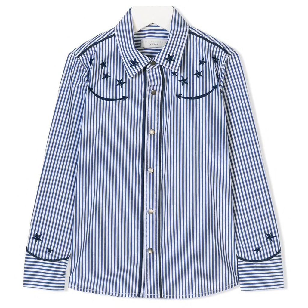 Stella McCartney Girls Star Embroidered Striped Shirt