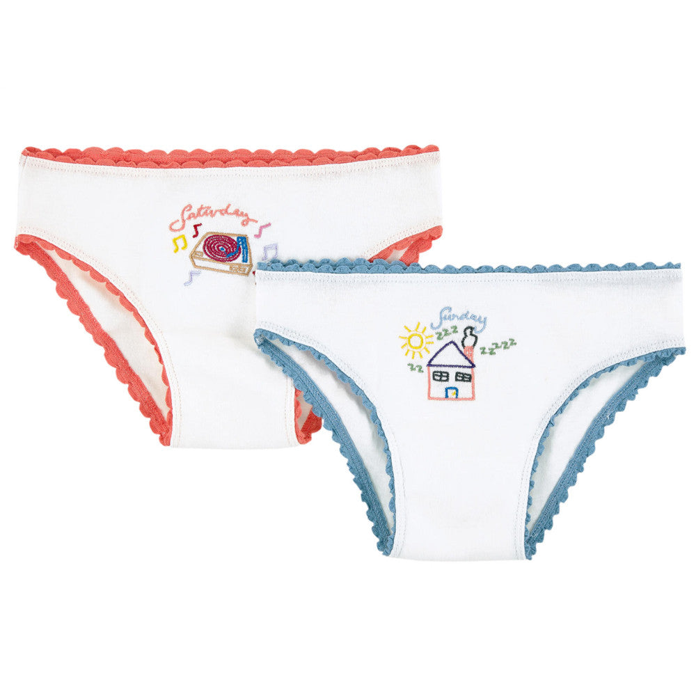 8b4ceaa917 Stella McCartney Girls White Two-Pack Printed Underwear Gift Set Girls  Underwear, Socks &