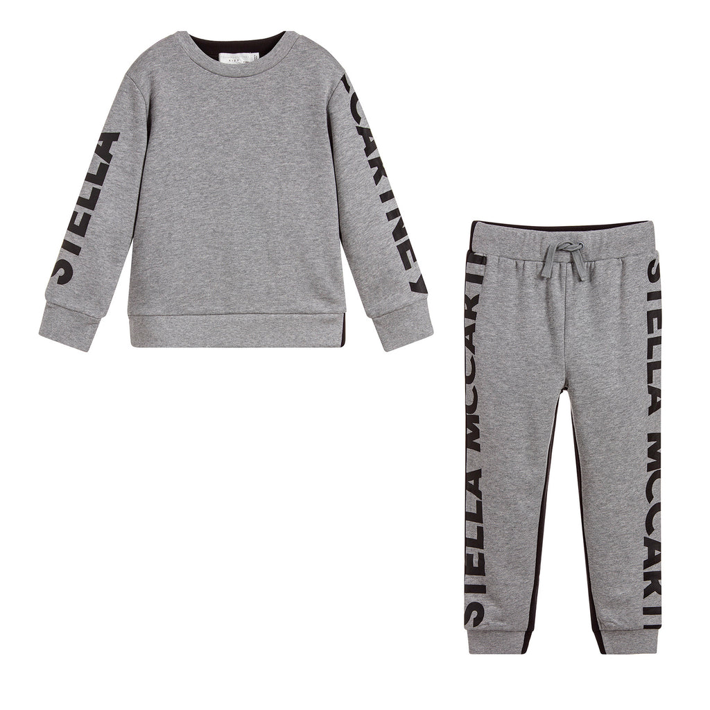 Stella McCartney Grey and Black Logo Sweatsuit (unisex)