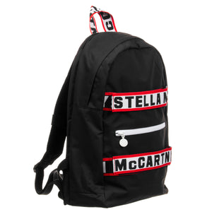 Unisex Black Logo Backpack