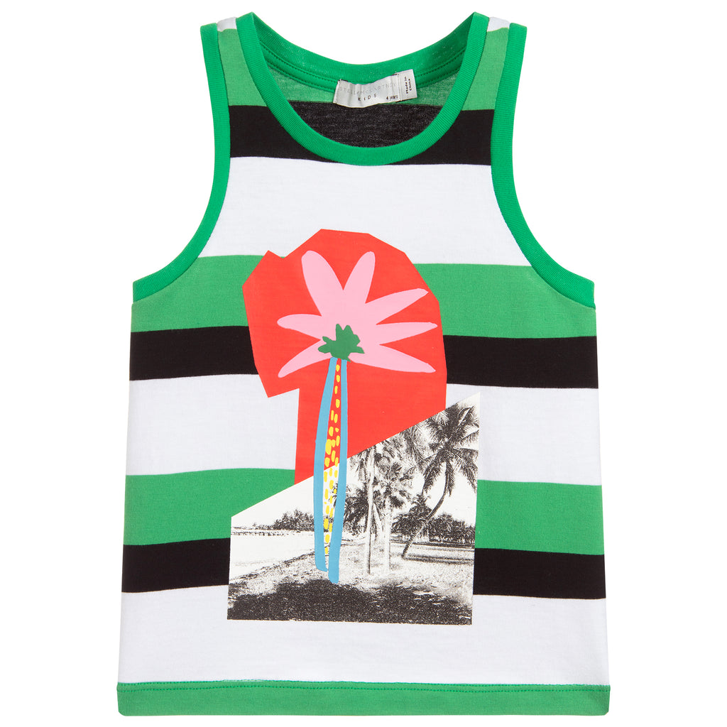 Unisex Green Graphic Tank Top