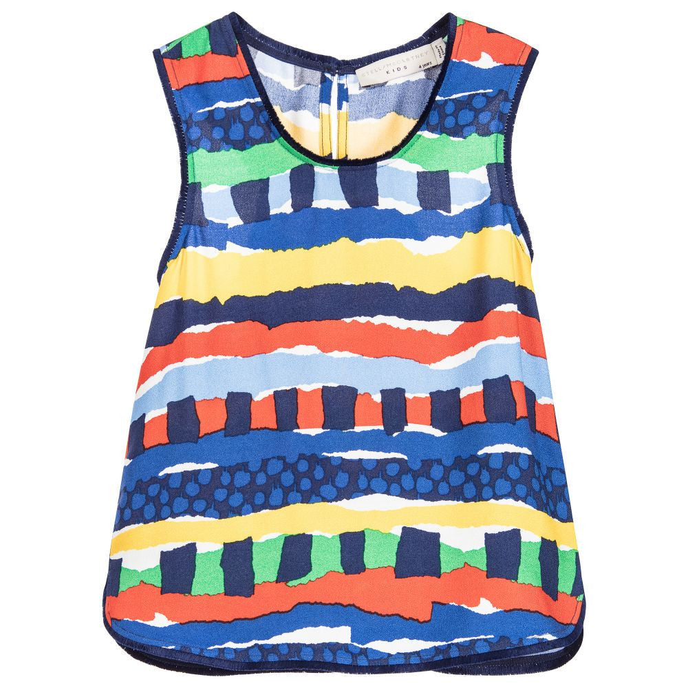 Stella McCartney Girls Colorful Striped Top | New Collection