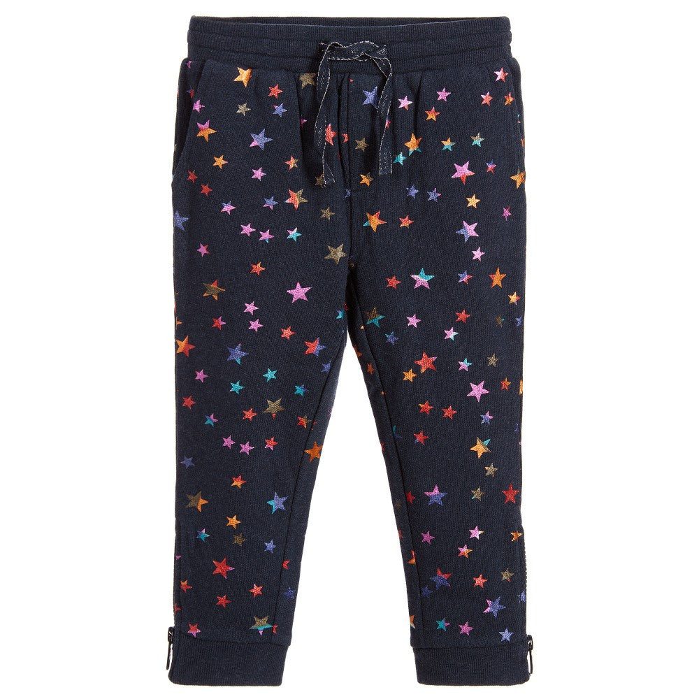 Stella McCartney Girls Metallic Star Sweatpants Girls Pants Stella McCartney Kids [Petit_New_York]