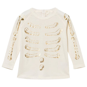 Stella McCartney Baby Girls Gold Skeleton Pajama Set Baby Sets & Suits Stella McCartney Kids [Petit_New_York]