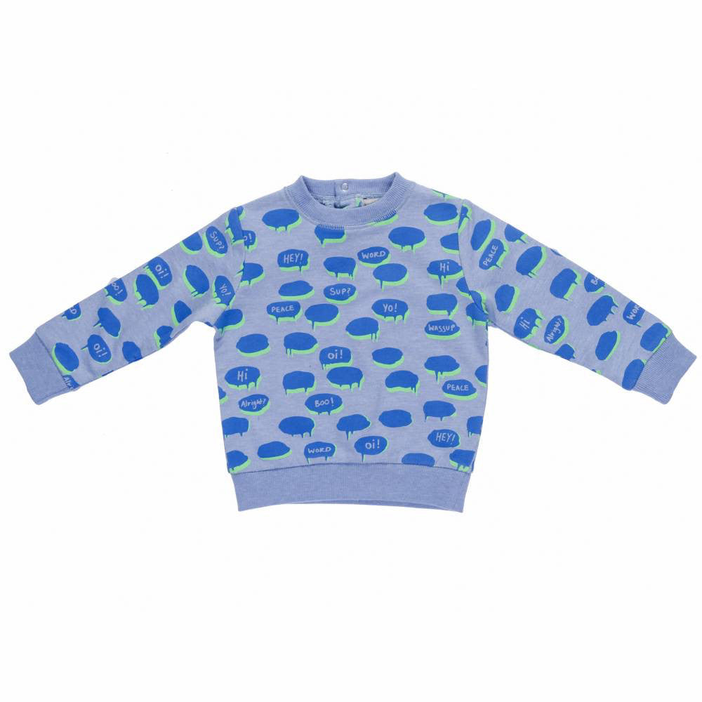 Baby Boys Blue Chat Bubble Sweatshirt