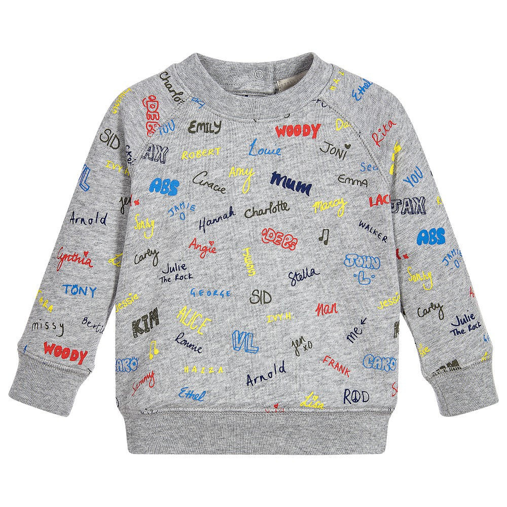 Baby Boys GreyPrinted Sweater