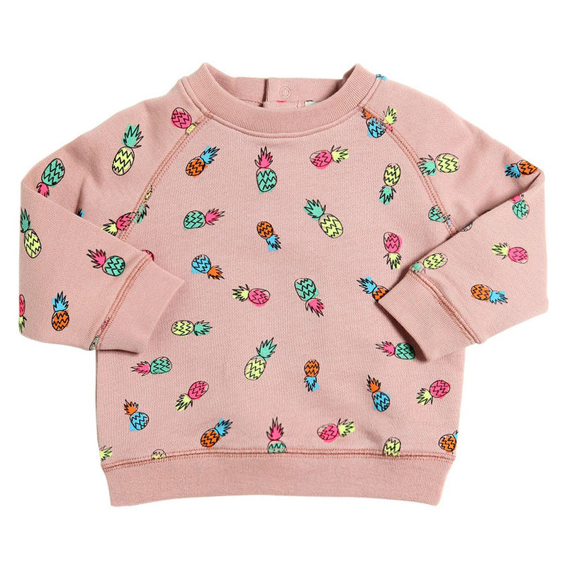 Baby Girls Colorful Pineapple Sweatshirt