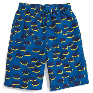 Stella McCartney Boys Blue Chat Bubble Swim Shorts Boys Swimwear Stella McCartney Kids [Petit_New_York]